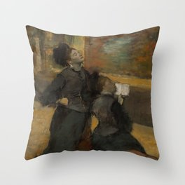 Visit to a Museum Throw Pillow