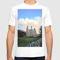 Corcomeroe Abbey Mens Fitted Tee White MEDIUM
