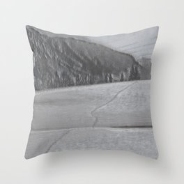 Footsteps I Throw Pillow