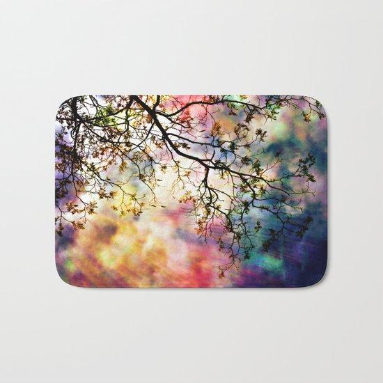 the Tree of Many Colors Bath Mat
