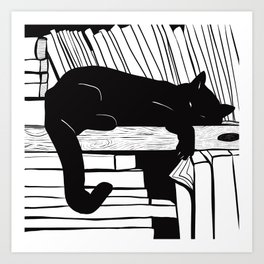 Book smart cat Art Print