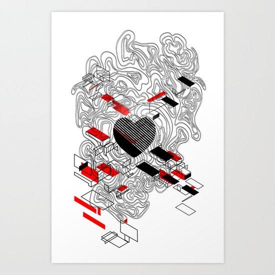map of my heart Art Print