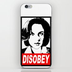 Disobey Scully iPhone & iPod Skin