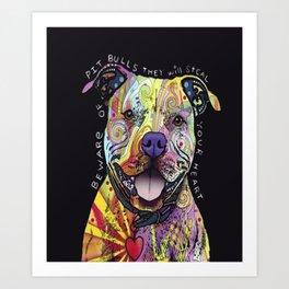 Colourful Pit Bulls, pit bull gift Art Print