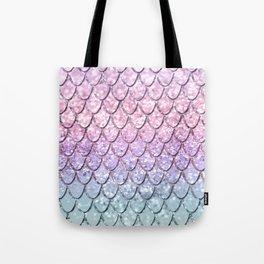 Mermaid Scales on Unicorn Girls Glitter #1 #shiny #pastel #decor #art #society6 Tote Bag