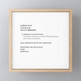 Ephemeral Framed Mini Art Print