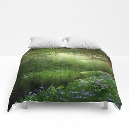 Summer Forest River Comforters