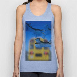 yellow bus and ice photography Unisex Tank Top