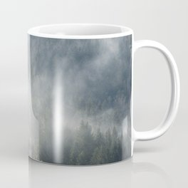 Limitless - Foggy Forest Nature Photography Coffee Mug