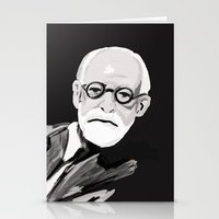 freud Stationery Cards featuring Freud  by BJD124