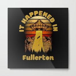 Alien UFO In Fullerton City Metal Print