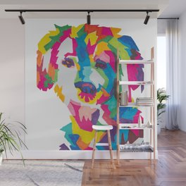Colorful Dog Design Wall Mural