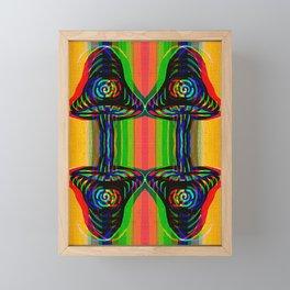 Shroom Spirals Framed Mini Art Print