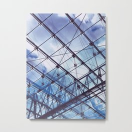 Glass Ceiling I (Portrait) - Architectural Photography Metal Print