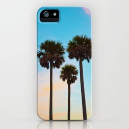 Palm Tree Silhouettes iPhone Case