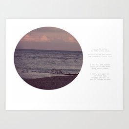 Laying by Water Art Print
