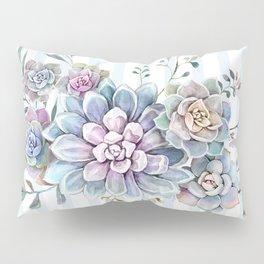 succulent watercolor 2 Pillow Sham