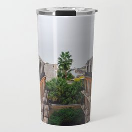 The Colorful Buildings and Palm Trees in New Orleans Travel Mug