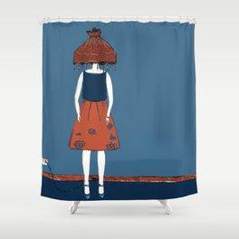 lamp head Shower Curtain