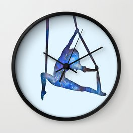 Galaxy Aerialist Wall Clock