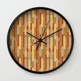 Tabs in Burnt Orange, Rust, Yellow and Tan Wall Clock