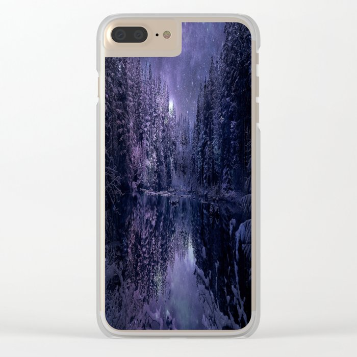 A Cold Winter's Night Clear iPhone Case