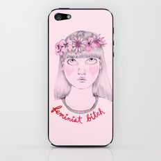Floral Feminist Bitch iPhone & iPod Skin