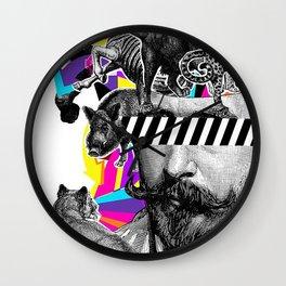 Pop Art Motifs Wall Clock