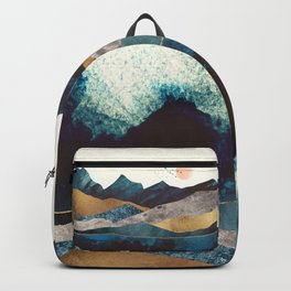 Blue Mountain Reflection Backpack
