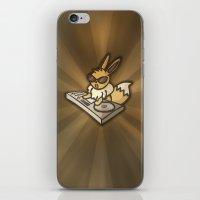 eevee iPhone & iPod Skins featuring DJ Eevee by PeekingBoo