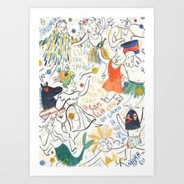 Carnaval Art Print