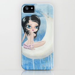 Hanging On The Moon iPhone Case