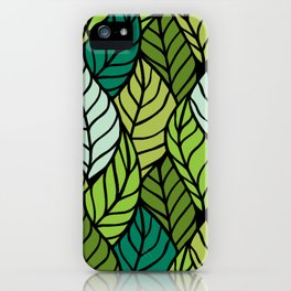 Flowing Leaves iPhone Case