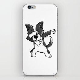 Funny Dabbing Border Collie Dog Dab Dance iPhone Skin
