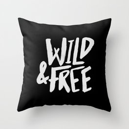 Wild and Free II Throw Pillow