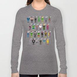 Pixel Supervillain Alphabet Long Sleeve T-shirt