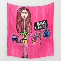 tote bag Wall Tapestries featuring Bag Lover by Pritika Mathur