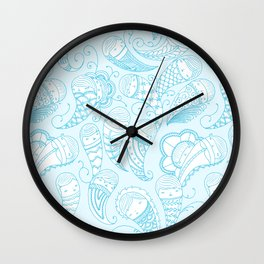 Ghostly Paisley Wall Clock
