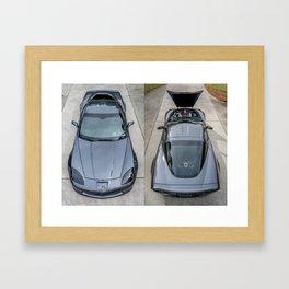 Batvette Side-by-Side Framed Art Print