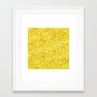 sunflowers Framed Art Prints featuring Sunflowers by Simi Design