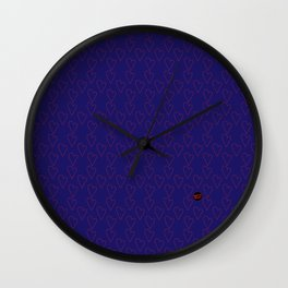 HEARTS ALL OVER #blue #red #heart minimal #art #design #kirovair #buyart #decor #home Wall Clock