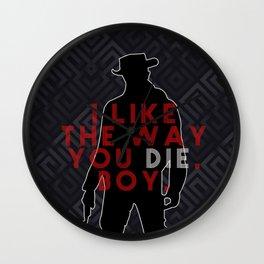 DJANGO I like the way you die, boy. Wall Clock