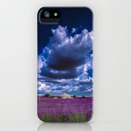 "Beautiful purple landscape with clouds in ""La Provençe, France""! iPhone Case"