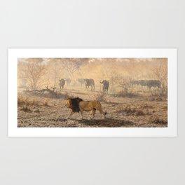 On Patrol by Alan M Hunt Art Print