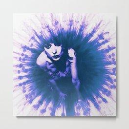 «Stop Whispering» series. watercolor edit Metal Print