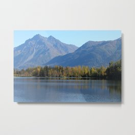 Autumn Lake Landscape Metal Print