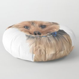 Yorkie Sticking Tongue Out | Dogs | Nadia Bonello Floor Pillow