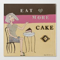cake Canvas Prints featuring Cake by Patty Haberman