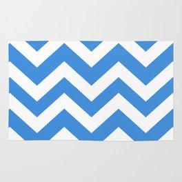 Tufts blue - blue color - Zigzag Chevron Pattern Rug