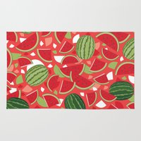 watermelon Area & Throw Rugs featuring Watermelon by Ornaart